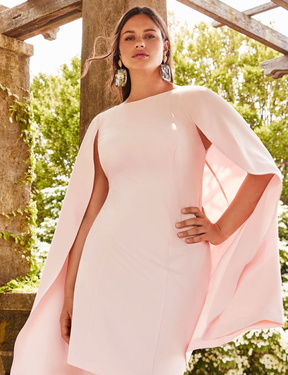 Blush or Light Pink Plus Size Dresses - Soft Pink Plus Size ...